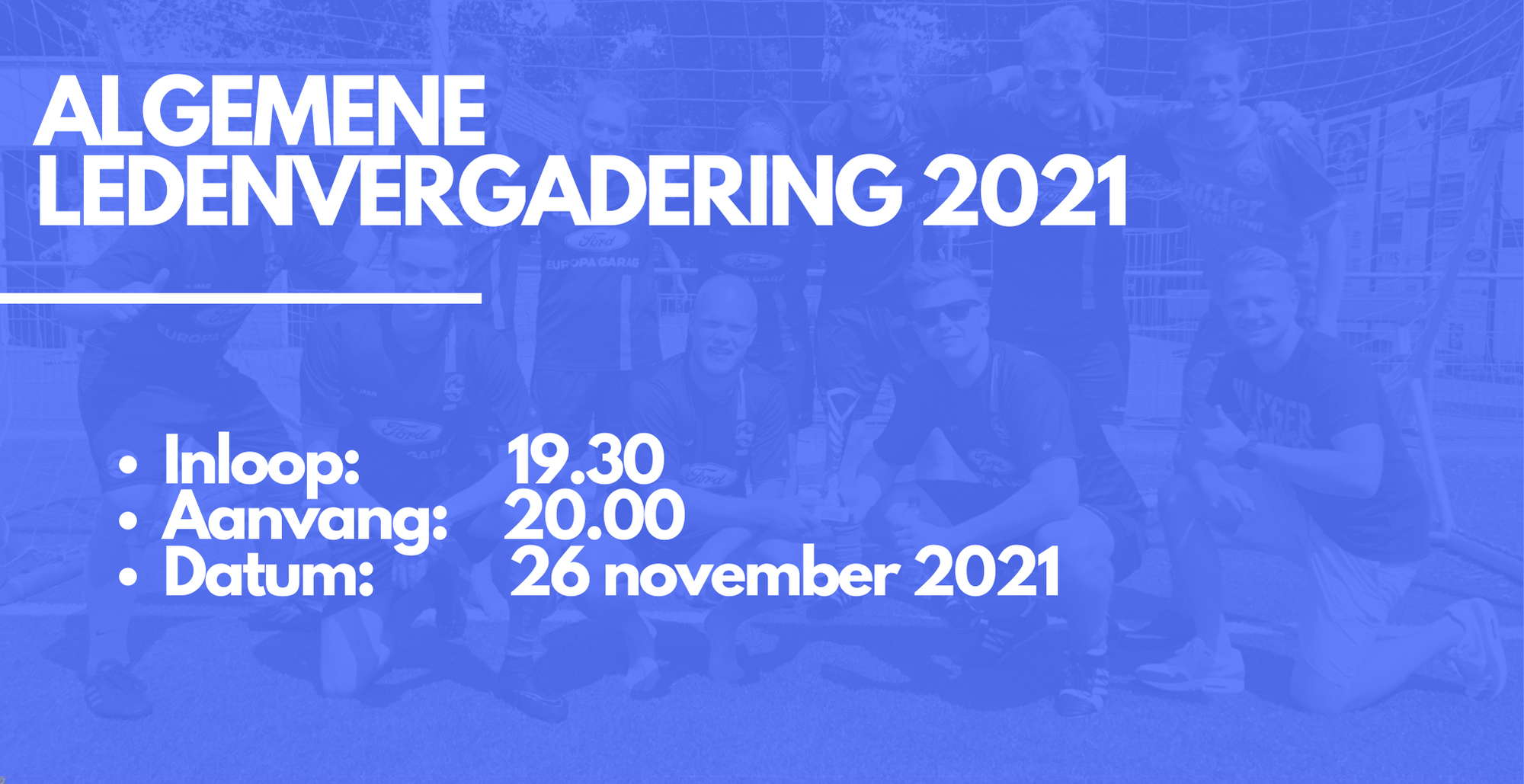 Algemene ledenvergadering 26 november 2021