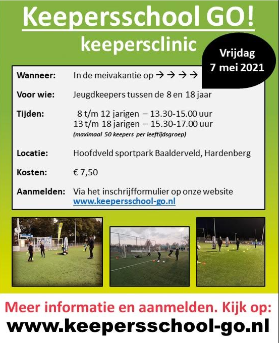 Keepersschool GO! organiseert Clinic